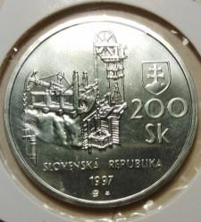 Кованица > 200круна, 1997 - Словачка  (Banská Štiavnica) - obverse