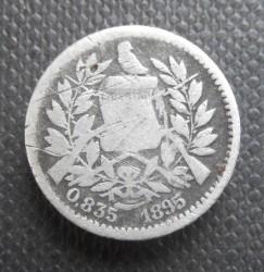 Moneda > ½real, 1894-1897 - Guatemala  - obverse