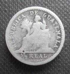 Moneda > ½real, 1894-1897 - Guatemala  - reverse