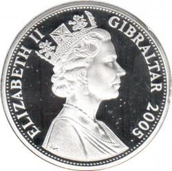 """錢幣 > 5鎊, 2005 - 直布羅陀  (200th Anniversary - Battle of Trafalgar /""""England Expects..."""") - obverse"""