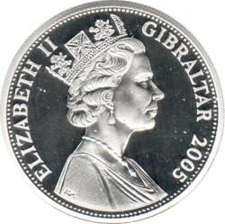 Moneta > 5sterline, 2005 - Gibilterra  (200° anniversario - Battaglia di Trafalgar/vice ammiraglio Pierre de Villeneuve) - obverse