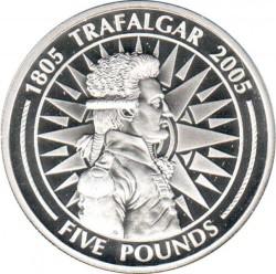 Moneta > 5sterline, 2005 - Gibilterra  (200° anniversario - Battaglia di Trafalgar/vice ammiraglio Pierre de Villeneuve) - reverse