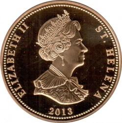 Moneta > 25pence, 2013 - Sant'Elena  (Guerre napoleoniche - Napoleone a Sant'Elena) - obverse