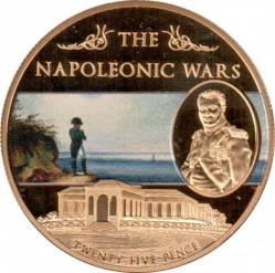 Moneta > 25pence, 2013 - Sant'Elena  (Guerre napoleoniche - Napoleone a Sant'Elena) - reverse