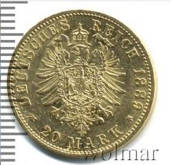 Moneda > 20marcos, 1888-1889 - Alemán (Imperio)  - reverse