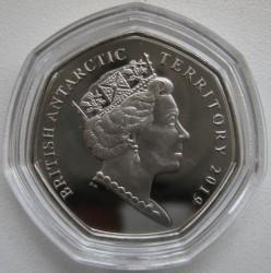 Moneta > 50pensów, 2019 - Brytyjskie Terytorium Antarktyczne  (Pingwin białooki) - obverse