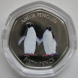 Moneta > 50pensów, 2019 - Brytyjskie Terytorium Antarktyczne  (Pingwin białooki) - reverse