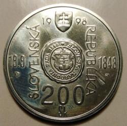 Moneta > 200corone, 1998 - Slovacchia  (150° anniversario - Rivolta slovacca del 1848-49) - obverse