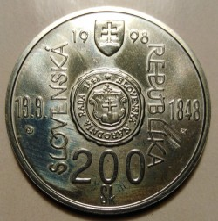 Moneta > 200corone, 1998 - Slovacchia  (150° anniversario - Rivolta slovacca del 1848-49) - reverse