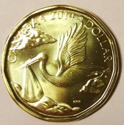 Moneta > 1dolar, 2014 - Kanada  (Bocian i dziecko) - reverse