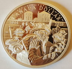 Moneta > 1dollaro, 2019 - Canada  (75° anniversario - Sbarco in Normandia) - obverse