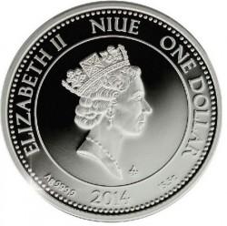 Moneta > 1dolar, 2014 - Niue  (Aureus Venus) - obverse