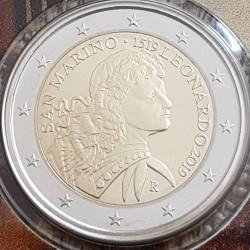 Moneta > 2euro, 2019 - San Marino  (500 rocznica śmierci - Leonardo da Vinci ) - obverse