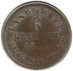 Moneta > 6kreuzer, 1831-1835 - Saksonia-Meiningen  - reverse