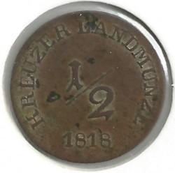 Монета > ½крейцера, 1812-1818 - Саксен-Мейнінген  - obverse