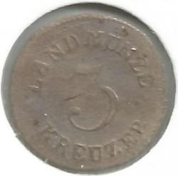 Moneta > 3kreiceriai, 1827-1829 - Saksas-Meiningenas  - reverse