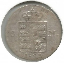 Moneda > 3kreuzer, 1827-1829 - Sajonia-Meiningen  - reverse