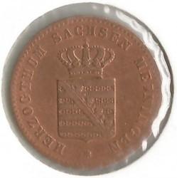 Moneta > 2fenigi, 1860-1866 - Saksonia-Meiningen  - reverse