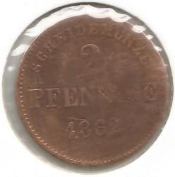 Монета > 2пфеннига, 1860-1866 - Саксен-Мейнинген  - reverse