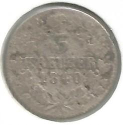 Монета > 3крейцера, 1840 - Саксен-Мейнинген  - obverse