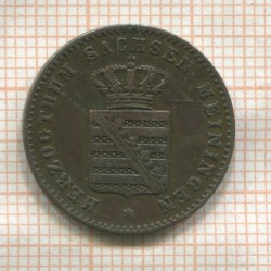 Moneta > 2pfennig, 1860-1866 - Saxe-Meiningen  - reverse