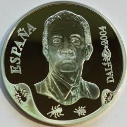 "Coin > 10euro, 2004 - Spain  (100th Anniversary - Birth of Salvador Dalí. Picture ""Leda Atómica"") - obverse"