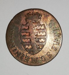 Moneta > ½kreuzer, 1812-1818 - Saksonia-Meiningen  - obverse
