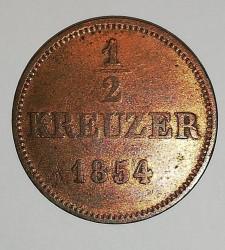 Münze > ½Kreuzer, 1854 - Sachsen-Meiningen  - reverse