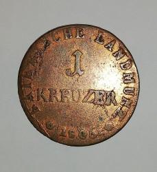 Кованица > 1крајцер, 1806 - Bavaria  (Copper /brown color/) - reverse