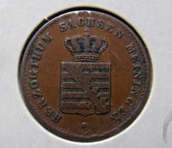 Moneda > 1penique, 1867-1868 - Sajonia-Meiningen  - obverse