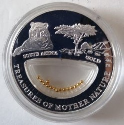 Coin > 10dollars, 2012 - Fiji  (Treasures of Mother Nature - Gold, South Africa) - obverse