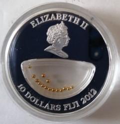 Монета > 10доларів, 2012 - Фіджі  (Treasures of Mother Nature - Gold, South Africa) - obverse
