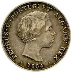 Moneda > 500réis, 1854 - Portugal  - obverse