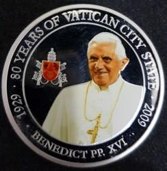 Moneta > 1dollaro, 2009 - Palau  (80° anniversario dello Stato della Città del Vaticano - Papa Benedetto XVI) - reverse