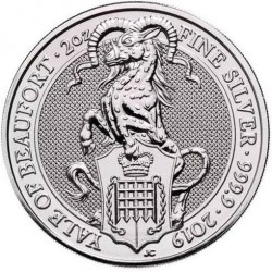 Coin > 5pounds, 2019 - United Kingdom  (The Queen's Beasts - Yale of Beaufort) - reverse