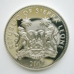 Moneta > 1dollaro, 2010 - Sierra Leone  (Scimmie - Scimpanzé) - obverse