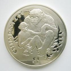 Moneta > 1dollaro, 2010 - Sierra Leone  (Scimmie - Scimpanzé) - reverse