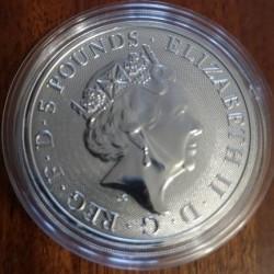 Монета > 5фунтів, 2019 - Велика Британія  (The Queen's Beasts - Yale of Beaufort) - obverse
