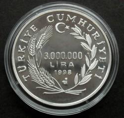 Münze > 3.000.000Lira, 1998 - Türkei  (Galataturm) - reverse