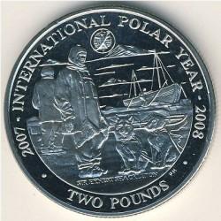 Moneta > 2funty, 2007 - Georgia Południowa  (Międzynarodowy Rok Polarny) - reverse