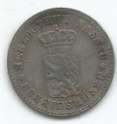 Монета > 1крейцер, 1861 - Нассау  (Серебро /серый цвет/) - obverse