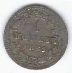 Монета > 1крейцер, 1861 - Нассау  (Серебро /серый цвет/) - reverse