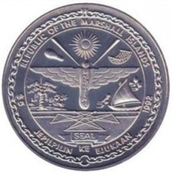 Münze > 5Dollar, 1992 - Marshall Inseln   (Military Heroes - To the Heroes of Corregidor) - reverse