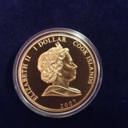 Moneta > 1dollaro, 2007 - Cook (Isole)  (60° anniversario - Matrimonio di Elisabetta II e Filippo/regina col velo da sposa) - obverse