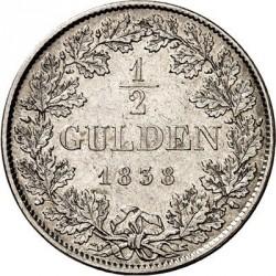 Кованица > ½гулдена, 1838-1848 - Bavaria  - reverse