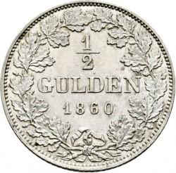 Кованица > ½гулдена, 1848-1864 - Bavaria  - reverse