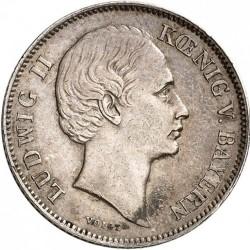 Кованица > ½гулдена, 1864-1866 - Bavaria  - obverse