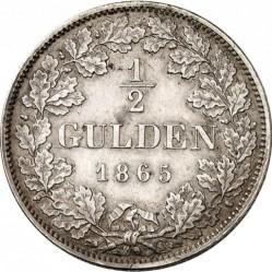 Кованица > ½гулдена, 1864-1866 - Bavaria  - reverse