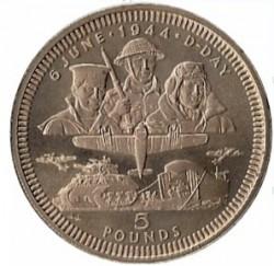 Moneta > 5sterline, 1994 - Gibilterra  (50° anniversario - Sbarco in Normandia) - reverse
