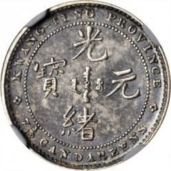 Moneda > 7.2candareens, 1889 - Xina - Imperi  - obverse